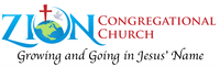 Zion Church logo with growing and going